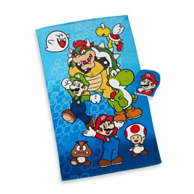 Super Mario Bros.® Bath Towel and Wash Mitt Set