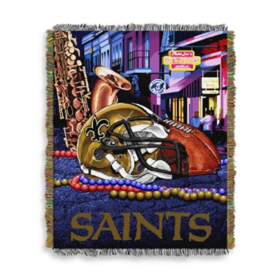 NFL New Orleans Saints Tapestry Throw