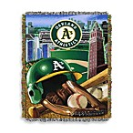 MLB Oakland Athletics Tapestry Throw