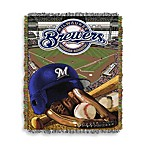 MLB Milwaukee Brewers Tapestry Throw