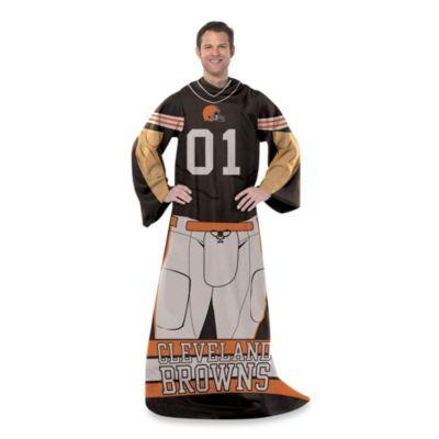 NFL Cleveland Browns Uniform Comfy Throw
