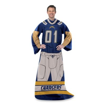 NFL San Diego Chargers Uniform Comfy Throw