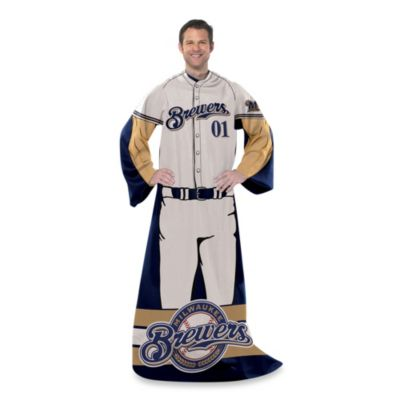 MLB Milwaukee Brewers Uniform Comfy Throw