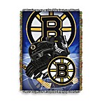 NHL Boston Bruins Tapestry Throw