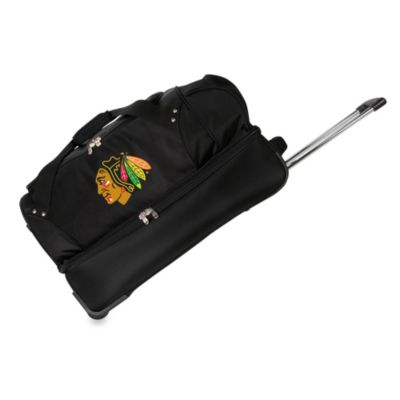 NHL Chicago Blackhawks 27-Inch Drop Bottom Rolling Duffel Bag