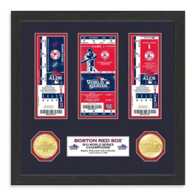 Boston Red Sox 2013 World Series Champions Ticket and Coin Frame