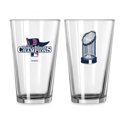 Boston Red Sox 2013 World Series Champions 16-Ounce Pint Glass (Set of 2)