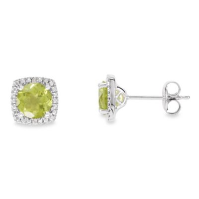 August Birthstone Earring Set with Created Peridot