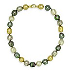 Majorica 14MM Multicolor Baroque Simulated Pearl Necklace with Vermeil Clasp