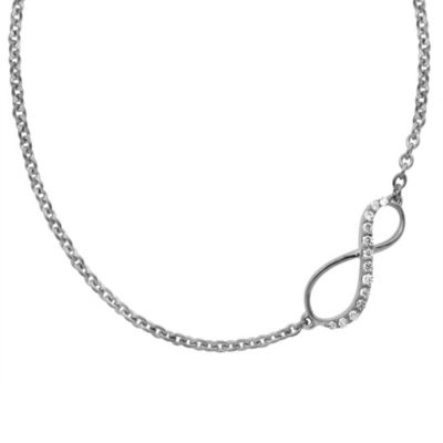 Violet and Sienna Sterling Silver .07 cctw Diamond 18-Inch Chain Infinity Pendant