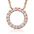 Violet and Sienna 14K Rose Gold Open Circle Pendant