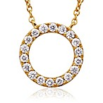 Violet and Sienna 14K Yellow Gold Open Circle Pendant
