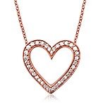 Violet and Sienna 14K Rose Gold 0.25 cttw Diamond Open Heart Pendant
