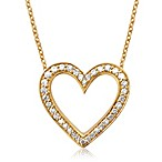 Violet and Sienna 14K Yellow Gold 0.25 cttw Diamond Open Heart Pendant