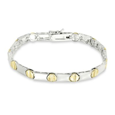 Sterling Silver and 14K Gold-Plated Nail Head Bracelet