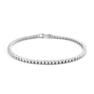 CRISLU Round Cut Cubic Zirconia Tennis Bracelet