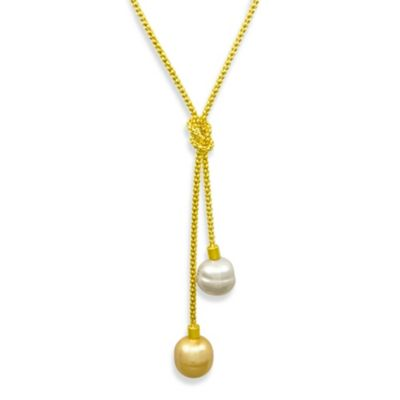 Majorica 14MM Love Knot Pendant in 18K Gold Vermeil