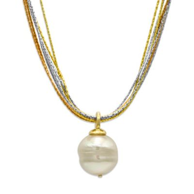Majorica 16MM White Baroque Pearl Multi-Chain Necklace
