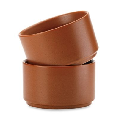 Noritake® Colorwave Terracotta Stacking Bowls (Set of 2)