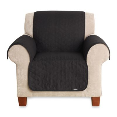 Sure Fit® Cotton Duck Chair Pet Throw in Black