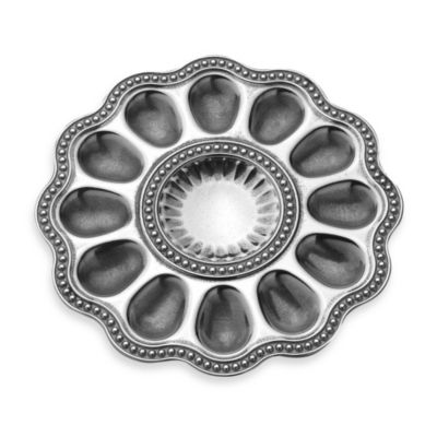 Wilton Armetale® Flutes and Pearls 11.25-Inch Deviled Egg Serving Tray