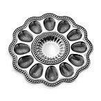 Wilton Armetale Flutes and Pearls 11.25-Inch Deviled Egg Serving Tray