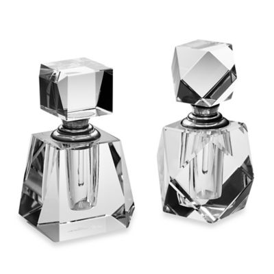 Oleg Cassini Cut Crystal Mini Perfume Bottles (Set of 2)