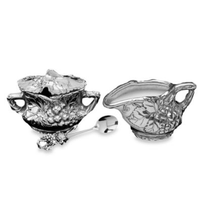 Arthur Court Designs Grape 3-Piece Sugar and Creamer Set