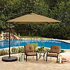 8-Foot Square Cantilever Offset Umbrella in Sand