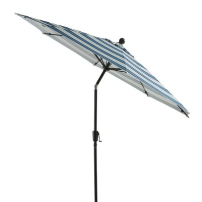 9-Foot Round Aluminum Umbrella in Madison Stripe