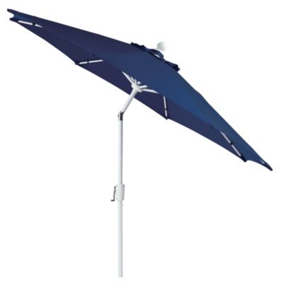 9-Foot Round Aluminum Umbrella in Blue