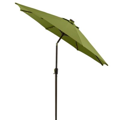 9-Foot Round Solar Aluminum Patio Umbrella in Kiwi