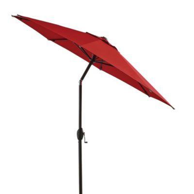 7-Foot Round Bistro Aluminum Umbrella in Salsa