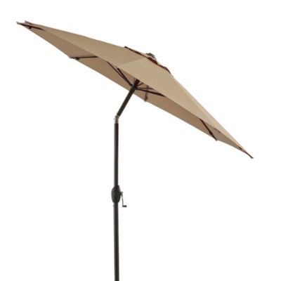 7-Foot Round Bistro Aluminum Umbrella in Linen