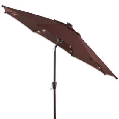 7-Foot Round Bistro Aluminum Umbrella in Chocolate