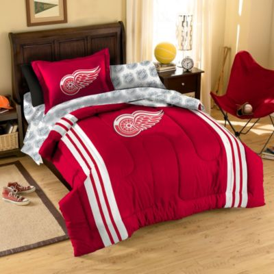 NHL Detroit Red Wings Complete Comforter Set
