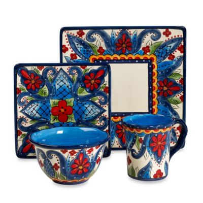 Tabletops Unlimited® Lucca 4-Piece Square Place Setting