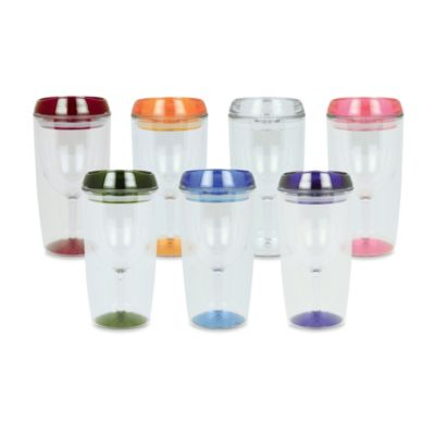 Vino Luxe Insulated 10-Ounce Wine Tumbler in Clear