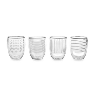 Mikasa® Cheers Insulated Double Old Fashioned Glasses (Set of 4)