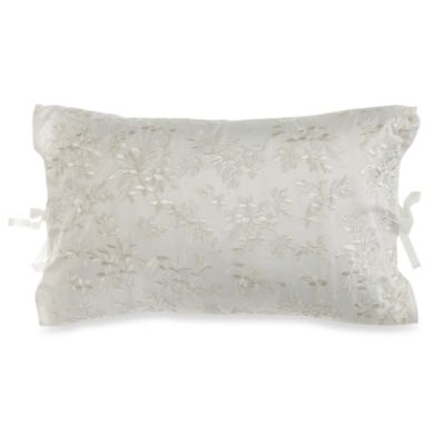 Verona Embroidered Oblong Toss Pillow