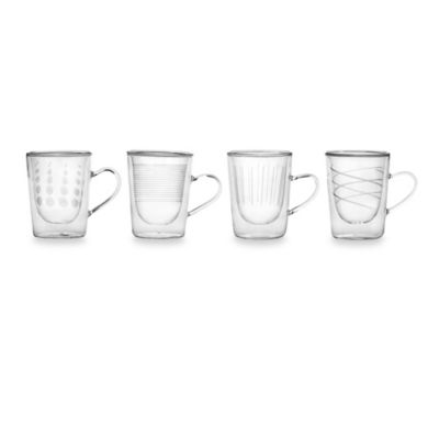 Mikasa® Cheers Insulated Coffee & Tea Glasses (Set of 4)