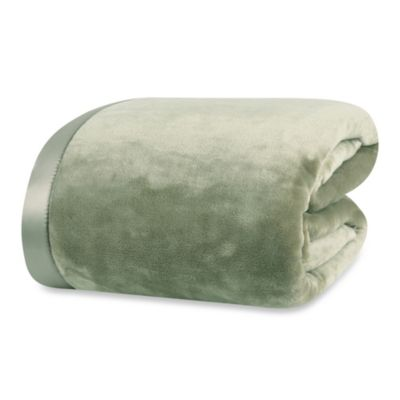 Berkshire Blanket® VelvetLoft™ Twin Blanket in Sage