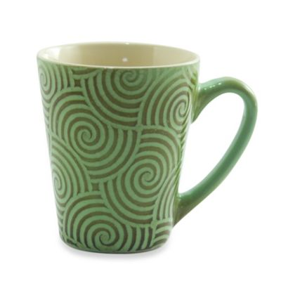 222 Fifth Zellige 13-Ounce Mug in Green