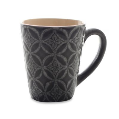 222 Fifth Zellige 13-Ounce Mug in Grey