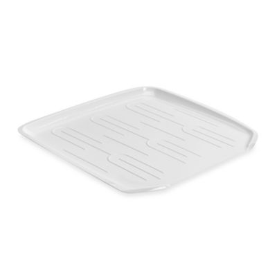 Small Drainer Tray in White
