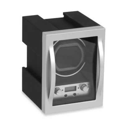 Wolf Designs® Module 4.1 Single Watch Winder in Black/Silver
