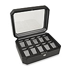 Wolf Designs® 10-Piece Watch Storage Box in Black