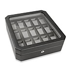 Wolf Designs® 15-Piece Watch Storage Box in Black