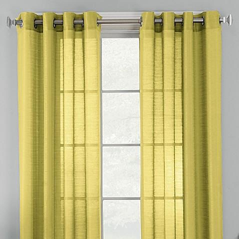 Knox Grommet Semi Sheer Window Curtain Panel Bed Bath