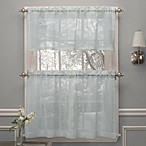 Crushed Voile Window Curtain Tier Pairs and Valance in Spa
